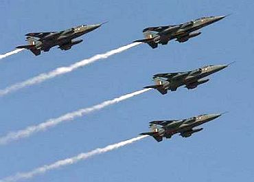 IAF's Jaguar jets in formation