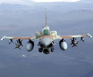 US F-16IN, which is taking part in the MMRCA deal