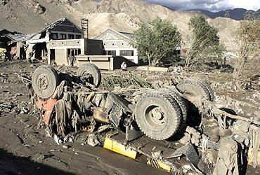 A damaged truck