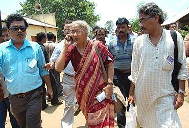 Activist Medha Patkar at the rally