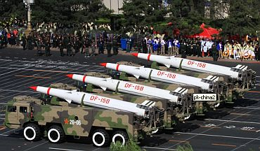 Chinese cruise missile on display at a parade