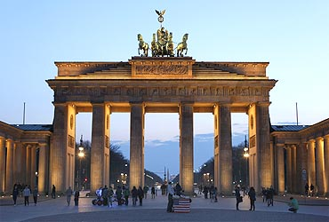 The Brandenburg Gate at Pariser Platz square in Berlin