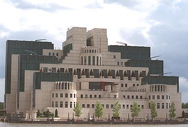 The headquarters of Britain's Secret Intelligence Service (MI6) at Vauxhall Cross on the River Thames in central London