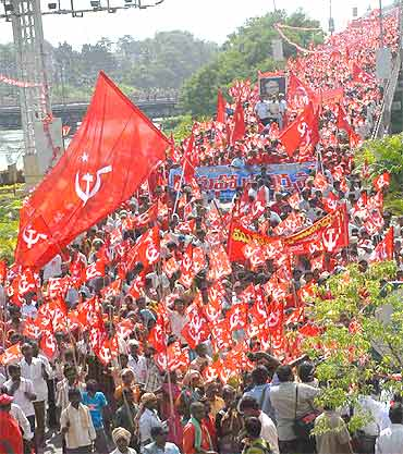 CPI-M activists in Vijayawada
