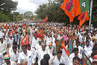 Crowd turnout at the Mysore rally