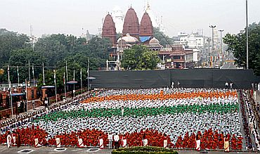 The grand I-Day celebrations in New Delhi