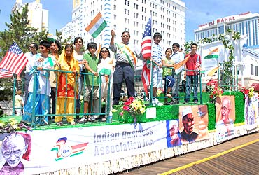 NRI's celebrate India's Independence Day at a Parade in Atlantic City