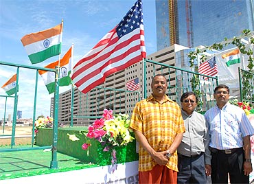 Atlantic City Mayor Lorenzo T  Langford at India Day Parade.