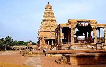 Another view of the Brihadeeswara Temple in Thanjavur