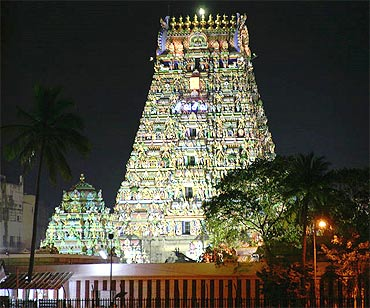 The famous Kapaleeswarar temple in Mylapore, Chennai