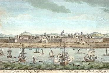 An 18th century painting of Fort St George, the seat of Tamil Nadu's administration, in Chennai