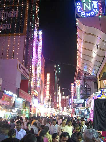 Ranganathan Street in T Nagar, one of Chennai's hot spots for shopping