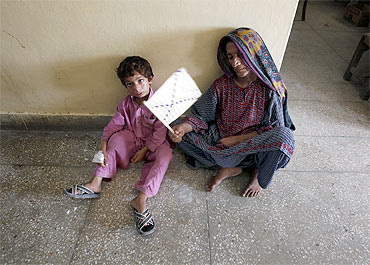 The scene at a government hospital in Sukkur, Pakistan