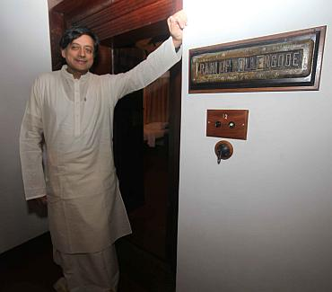 Shashi Tharoor at his ancestral house before the ceremony