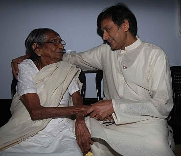 Tharoor with his grandmother, Jayasankari Amma