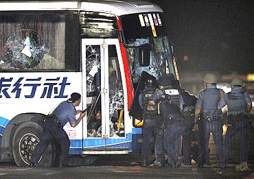 Bloody end to Manila bus hijack