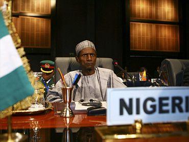 Nigerian President Umaru Yar'Adua in Sharm el-Sheikh this month