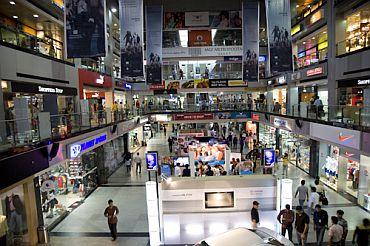 A mall in Gurgaon, Haryana