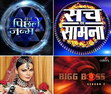 A collage of some reality shows on television