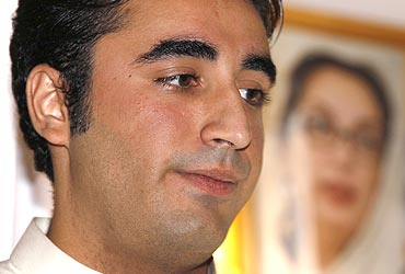 Bilawal Bhutto Zardari at the opening of a donation point at the Pakistan high commission in London