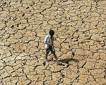 Drought in the middle of India's floods