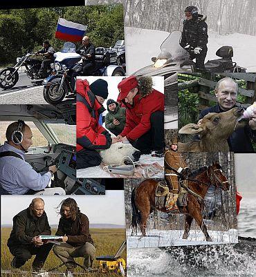 Captured: Russian Prime Minister's daredevil ways