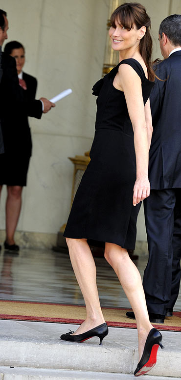 Carla Bruni-Sarkozy at the Elysee Palace in Paris
