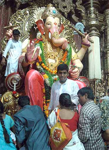 Lalbaugcha Raja is a grand spectacle