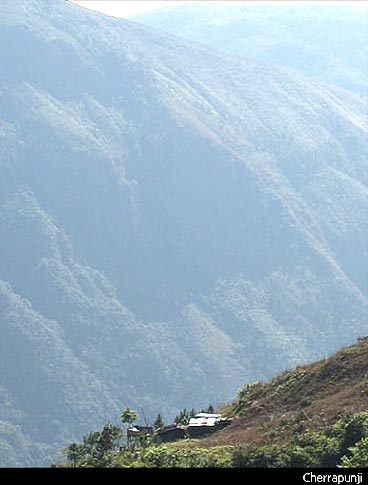 A breathtaking view of Cherrapunjee