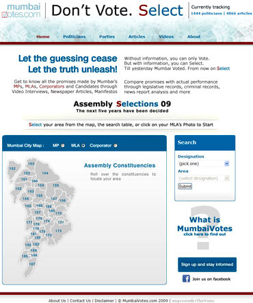 The Mumbai Votes website