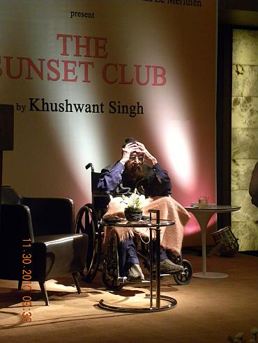 Khushwant Singh at a book launch function