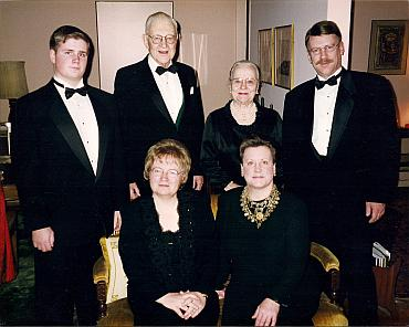 Grandson David Franklin Jacox, Phillips Talbot, wife Mildred, son Bruce, (seated) Susan and Nancy