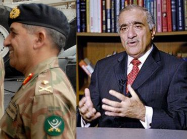 (Left) Former ISI chief Pasha. (Right) NSA Durrani