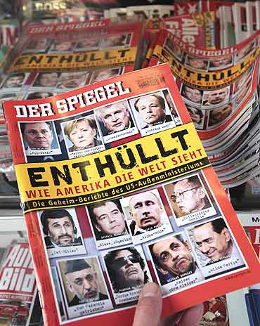 Information taken from secret documents supplied by WikiLeaks was published in Der Spiegel