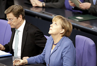 The secret documents crticise German chancellor Angela Merkel and Westerwelle
