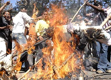 Andhra saw violent protests this year over a likely Telangana state