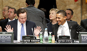 US President Barack Obama with UK PM David Cameron