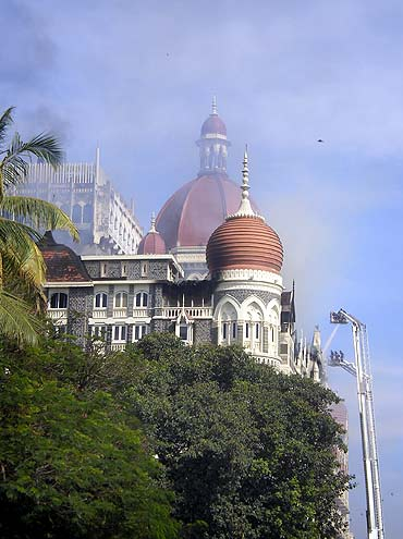 Mumbai's iconic Taj Mahal hotel under attack by terrorists