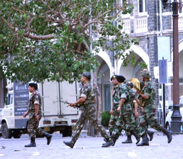 A file photo of paramilitary personnel during the 26/11 terror strike
