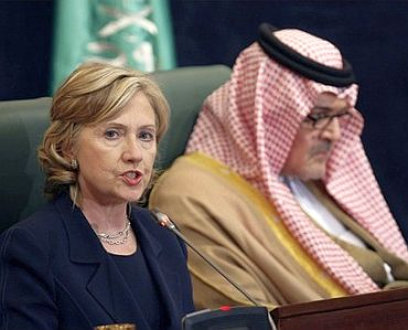 Secretary of State Hillary Rodham Clinton with Saudi Foreign Minister Prince Saud al-Faisal