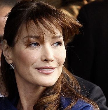 French first lady Carla Bruni-Sarkozy