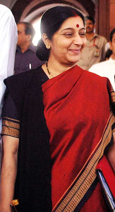 Sushma Swaraj, Leader of the Opposition in the Lok Sabha.