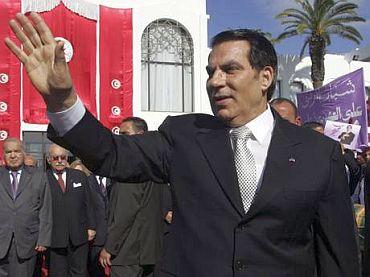 Tunisian President Zine El Abidine Ben