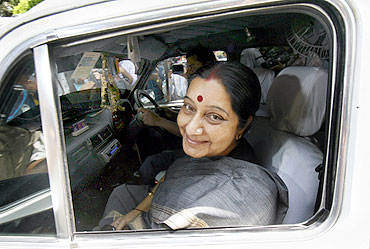 Leader of Opposition in Lok Sabha Sushma Swaraj (in the picture) has played a crucial role in the logjam
