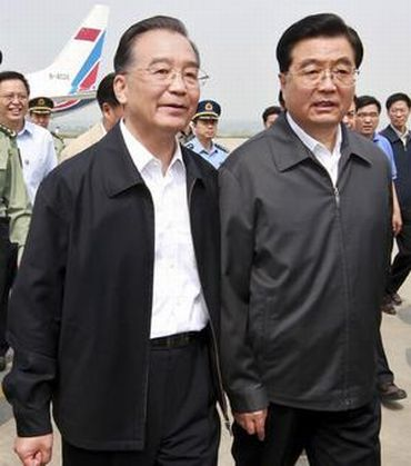 Wen with President Hu Jintao