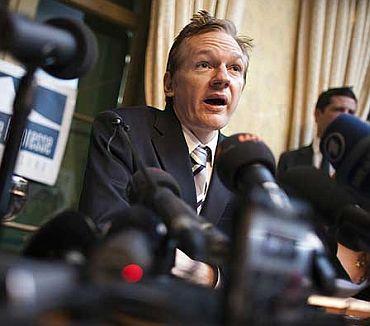 File photo of Julian Assange