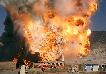 Fuel tankers explode after they were attacked on the outskirts of Quetta