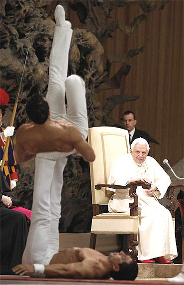 Topless performance shocks Vatican