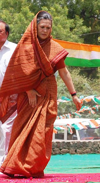 Congress chief Sonia Gandfhi