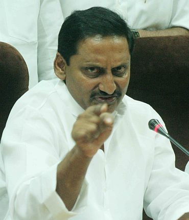 Andhra Pradesh Chief Minister Kiran Kumar Reddy